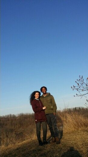 My gf and I on another scarborough hiking trail in the fall