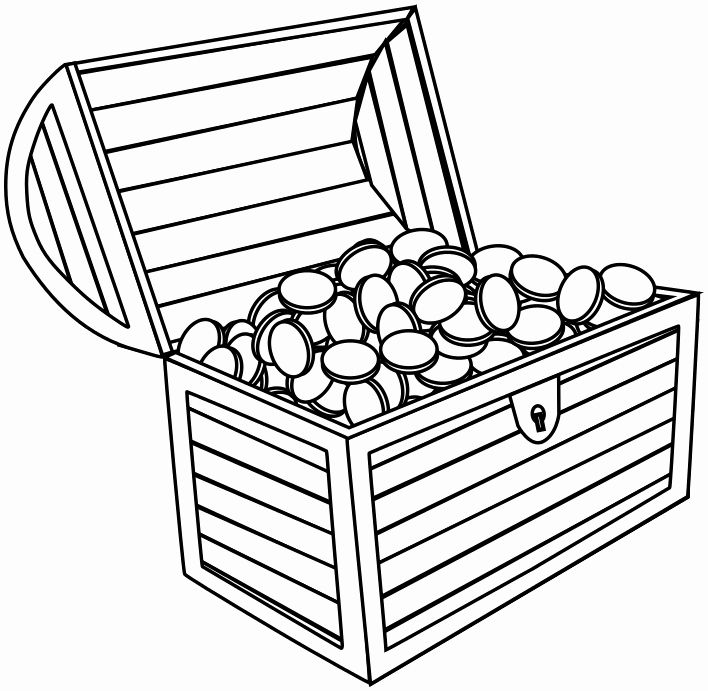 Treasure Chest Coloring Page Best Of Open Treasure Chest Coloring Page Coloring Home In 2020 Treasure Chest Clip Art Treasures