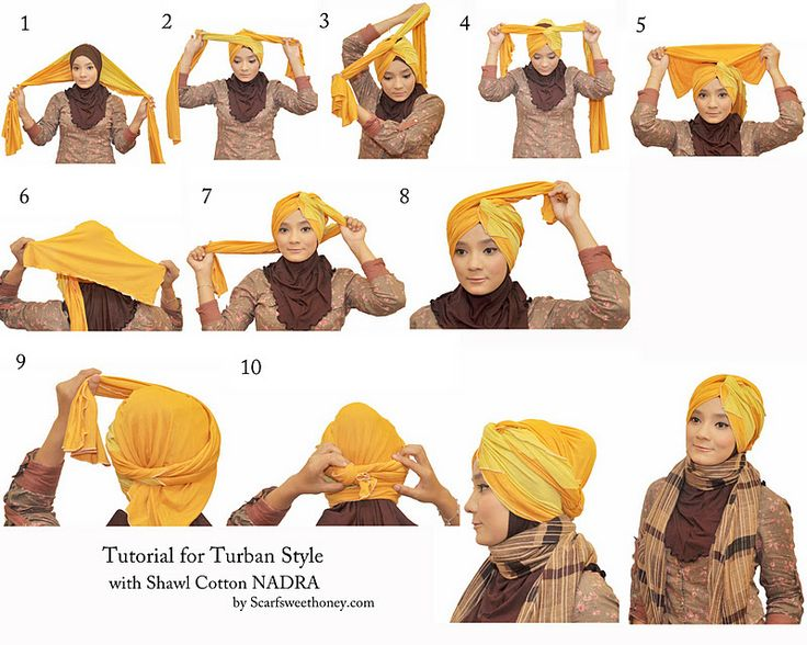 Hijab Tutorial - Another turban style