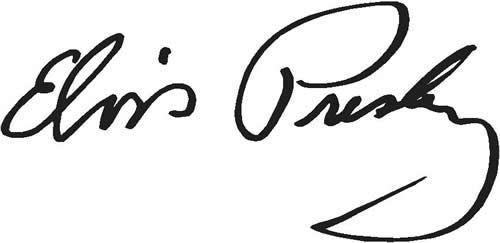 Firma original de Elvis Presley