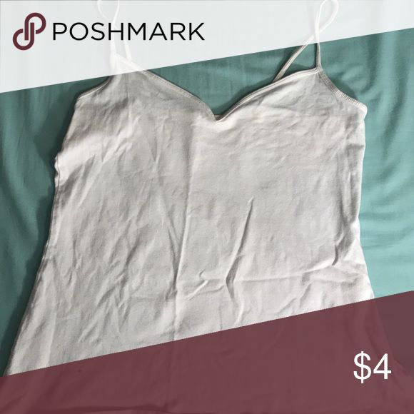 Basic white tank top This tank is perfect for being worn underneath bigger shirts! Old Navy Tops Tank Tops