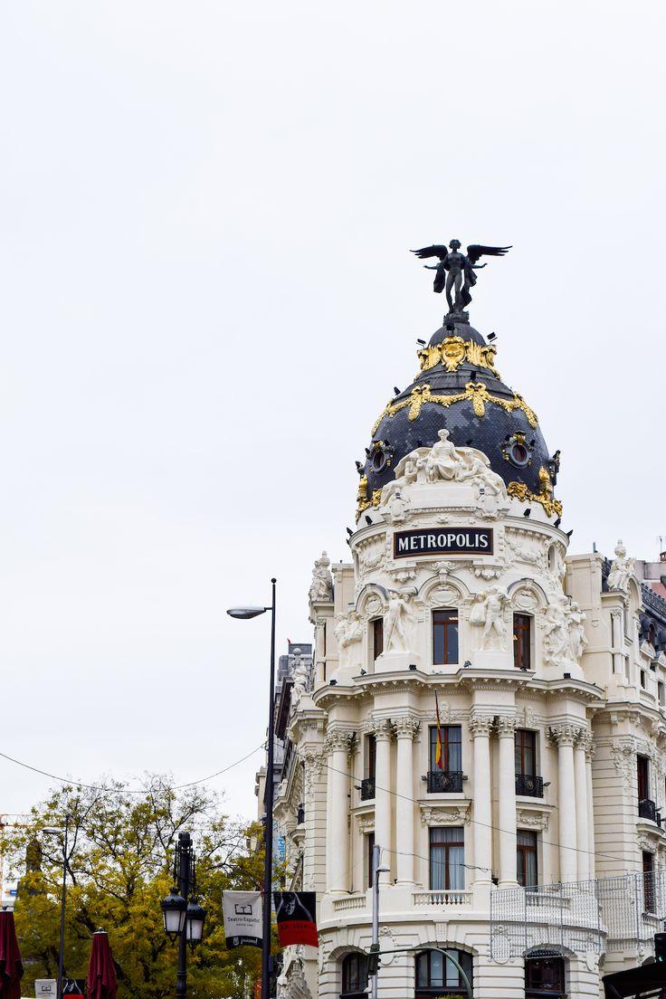 Metropolis Building, Madrid, Spain, Madrid in the fall