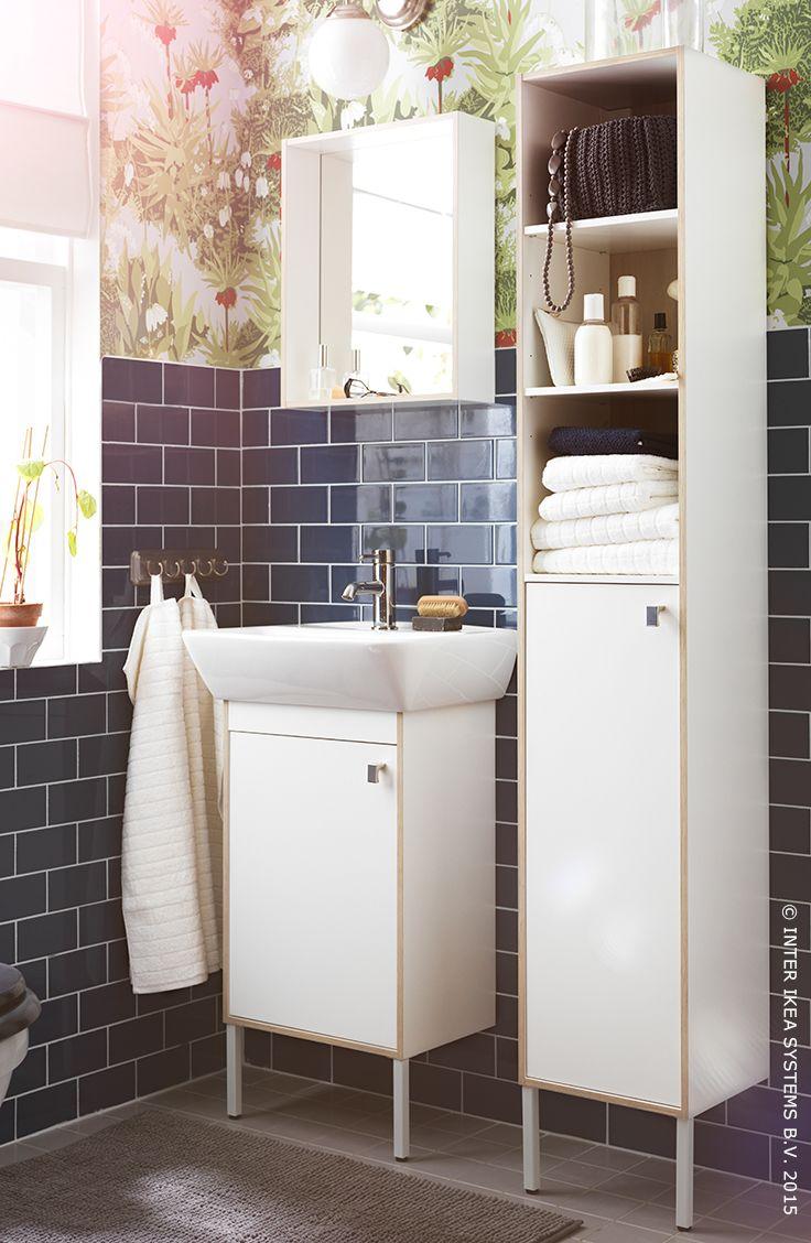 Le meilleur allié des petites salles de bains. Série pour salle de bains TYNGEN #Aprilnews #salledebains #IKEA