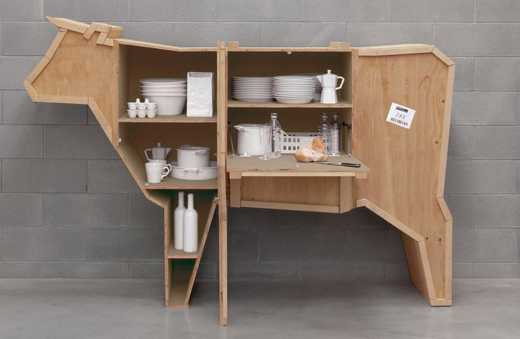 A fun cabinet for the kitchen or dining room.