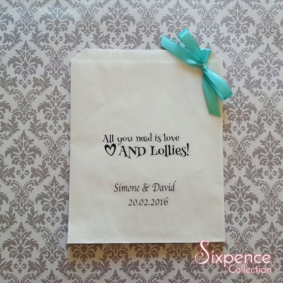 Personalised All you need is love AND Lollies White Paper