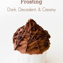 Chocolate Mousse Frosting – Dark, Decadent, and Creamy