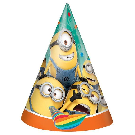 Despicable Me Party Hats by FunWithPearl on Etsy