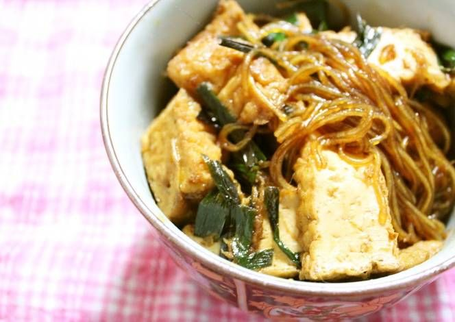 Mapo Cellophane Noodles for Vegetarians Recipe -  Let's try to make Mapo Cellophane Noodles for Vegetarians in our home!