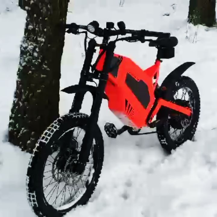 Black Red In The Snow By Cyklon Ebike Bike Mod Battery Bicycle