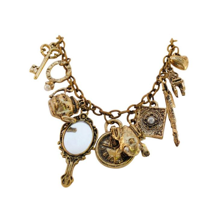 Fairytale themed charm bracelet to keep you looking good even while you're kissing frogs!  Colour: Bronze. Material: Metal alloy. Price: €6.00