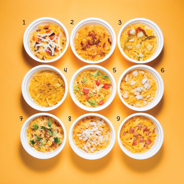 9 Easy Ways To Make Microwave Mac 'N' Cheese More Awesome #CollegeRecipes #YUMMY