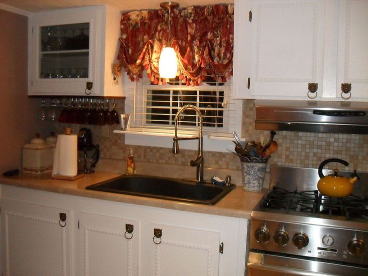 repainted all the walls in our mobile home and redone our kitchen - Mobile Home Kitchen Designs