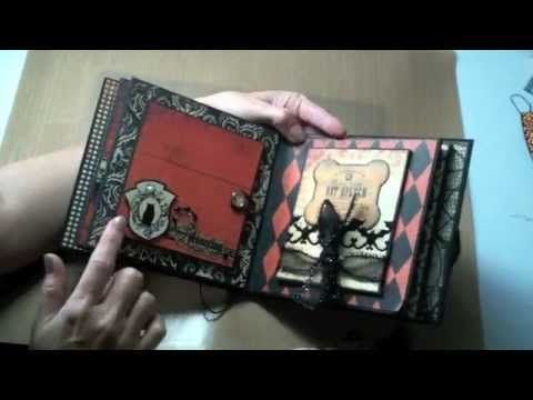 6x6 Halloween mini-album featuring Authentique Glowing