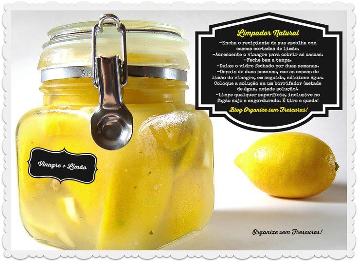 Limpador natural limão