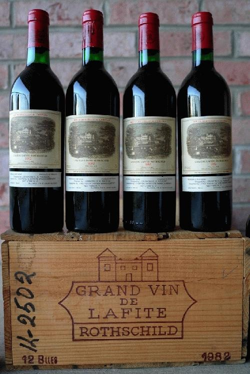 My favorite wine Chateau Lafite Rothschild, nice vintage '82.