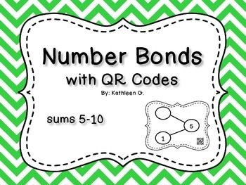 Number Bonds with QR Codes and sums 5-10