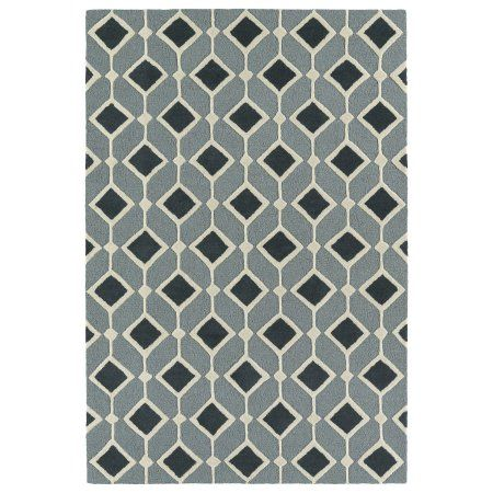 Kaleen Rugs Trends Mid-Century Teal Blue Hand Tufted Rug (8'0 x 10'0)