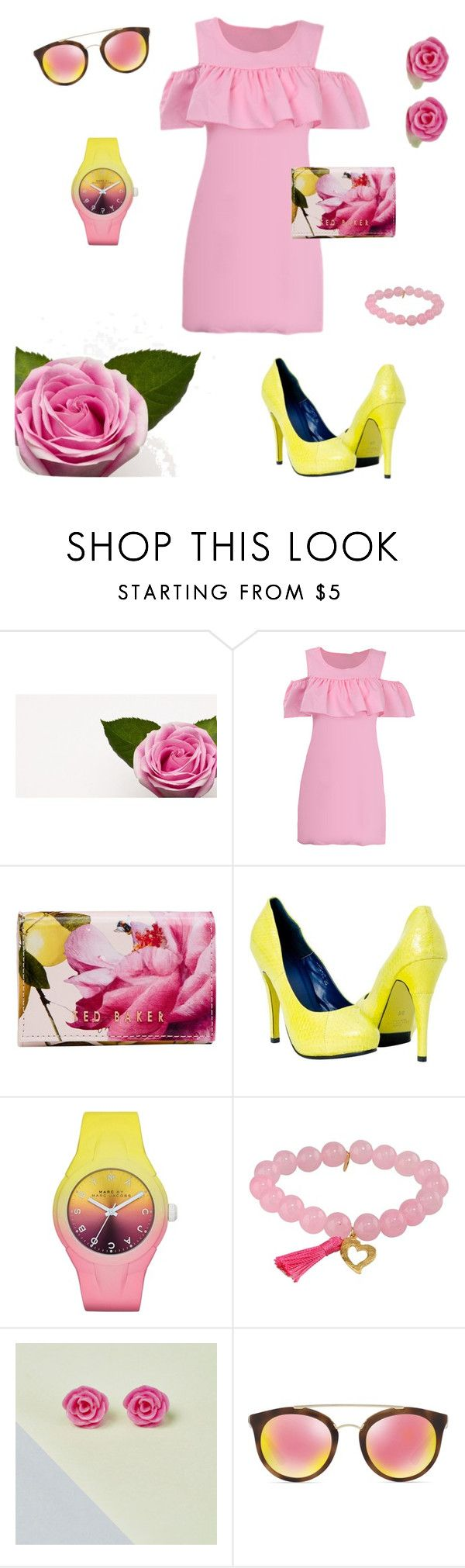 """На свидание"" by polzovatelnad on Polyvore featuring мода, Ted Baker, Marc by Marc Jacobs, Taolei и Prada"
