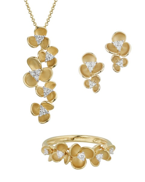FIORI 14k yellow gold and diamond set by Artistry, Ltd. - Available at Daniel Jewelers, Brewster NY