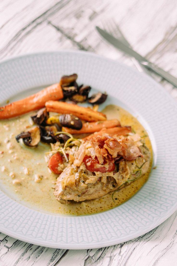 Alltså denna kycklingen smällte i munnen! Jag har lite olika varianter på den här på bloggen, ofta freebasar jag lite och det blir lite olika då, haha! Rosmarin, soltorkade tomater, parmaskinka – Kan det bli bättre? SLURP! Jag serverade grillade morötter, ciytron och champinjoner till. 5.0 from 1 reviews Mör kyckling i Italiensk Balsamicosås …