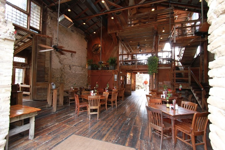 Gristmill in Gruene (New Braunfels) Great food. Great