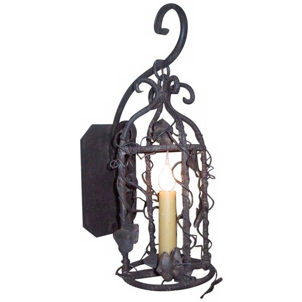 """Laura Lee Birdcage 19"""" High Wall Sconce ($607) ❤ liked on Polyvore featuring home, lighting, wall lights, brown, birdcage lighting, brown lamp, bird cage lamp, bird cage light and universal lighting and decor"""