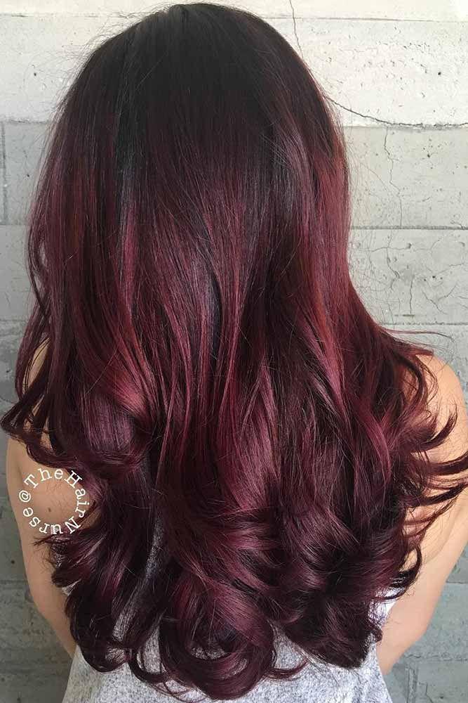 burgundy hair colors ideas