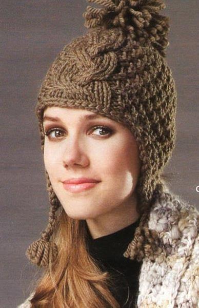 Детская вязаная шапка с ушками схема