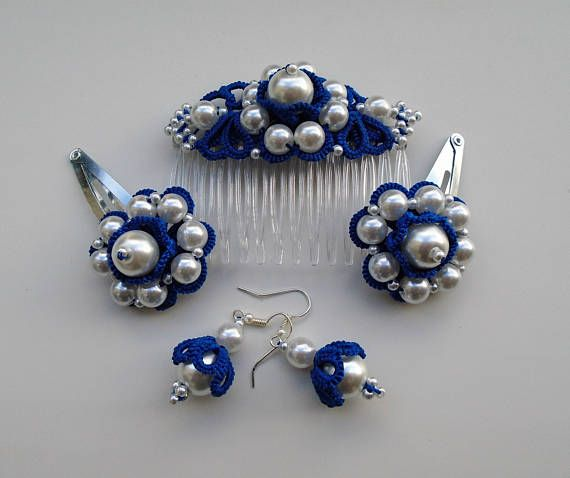 Something Blue Wedding Flower Girl Hair Accessories Decorative