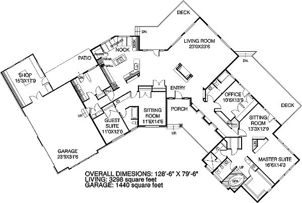 House plans u shaped with courtyards click to view house for U shaped house plans single level