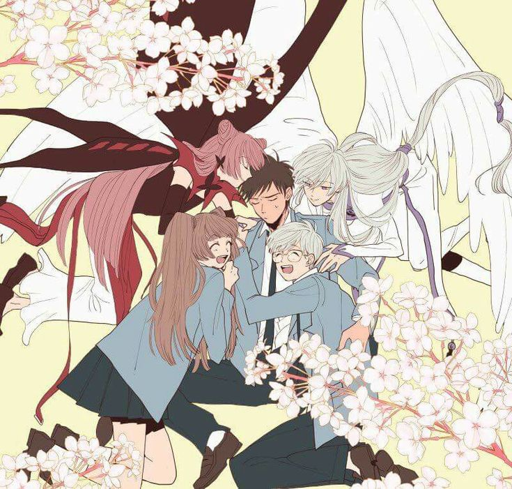 Cardcaptor Sakura older crew<< Poor Toya is the only mostly normal one lol