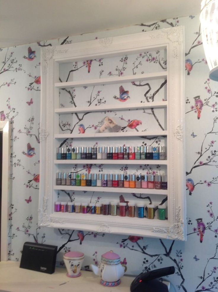 Nail Polish Rack Shelf Beauty Product Rack Salon Display Retail Furniture Large #MrShabbyMrsChic