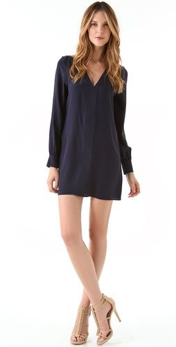 A navy dress that you'll wear year-round. @Shopbop