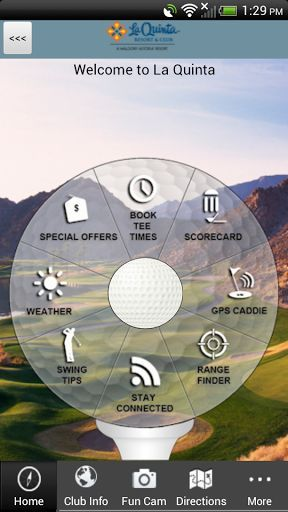 Do you enjoy playing golf at La Quinta Resort and Club in California?  The OFFICIAL La Quinta Resort and Club app gives golfers a free, easy to use, interactive combination of comprehensive course information, GPS positioning, digital scorecard, augmented reality range finder, and various other useful club-specific features.<p>GPS CADDIE<br>- Instantly view distances to the tee, front, back, and middle of the green, as well as par for each hole<br>- Interactive shot positioning: simply touch…