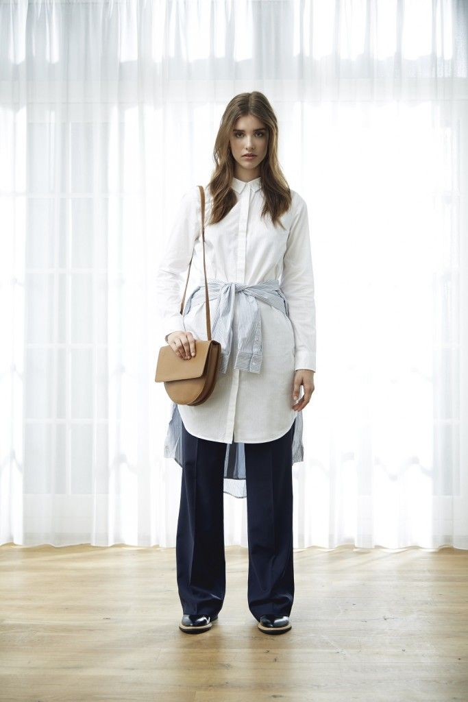 We're talking go all in or go home. Mix that oversized shirt with your new wider leg pants for a look that truly commits to more is more. We like the effortless ease to a look that is unapologetically fearless in playing with volume, but in the case you'd like to remind people of your feminine figure feel free to opt for an around the waist shirt knotted at the front.