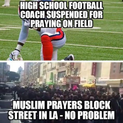 Something is wrong here...religious freedom for Muslims but not for Christians.