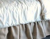Burlap Crib Skirt with Ruffle. $130.00, via Etsy.