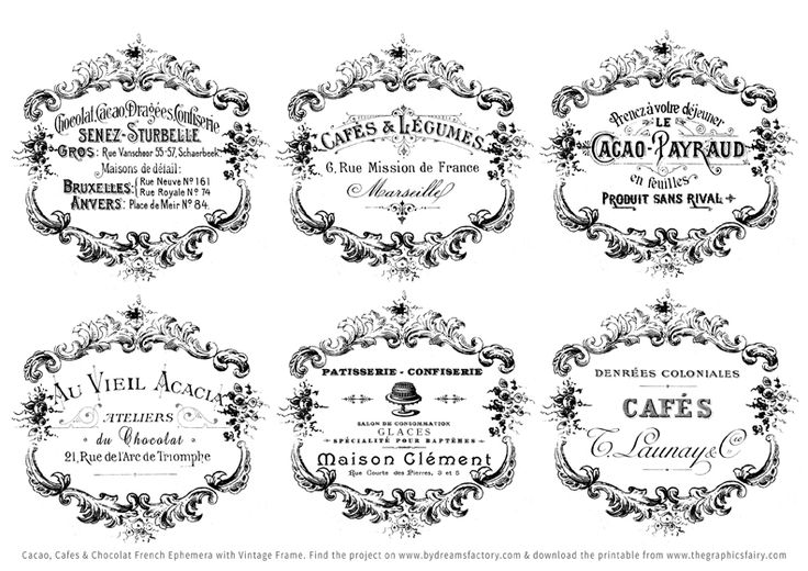 Shabby French Typography Labels