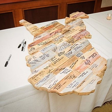 Our #WeddingWednesday advice: Instead of a traditional guestbook have guests sign in on a wooden outline of the state. This becomes a great keepsake and fun decor!  : Kuirsta  Seth  Submit your wedding to the WV Weddings Wedding Register and become a memorable part of the only statewide collection of real West Virginia weddings. Deadline has been extended to July 11th. For more information visit http://ift.tt/1Uk4HjZ.