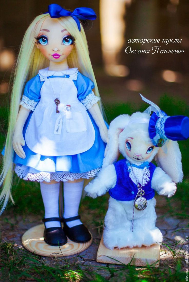 Купить Авторская текстильная  кукла - голубой, авторская ручная работа, авторская игрушка, авторская кукла