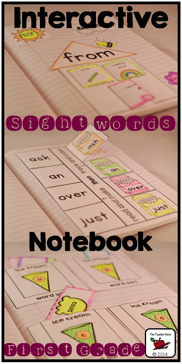 Lots of interactive notebook activities to practice the First Grade Dolch Sight Word List. ($)