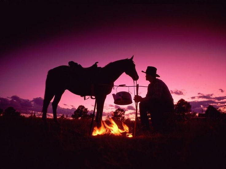 Cowboy at Sunset