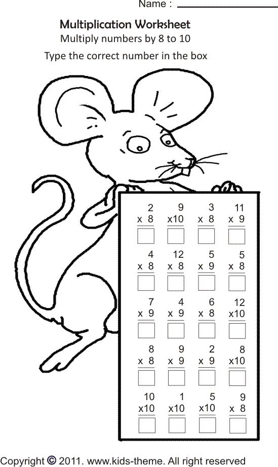 math coloring pages 3rd grade kids in grade 2 and grade