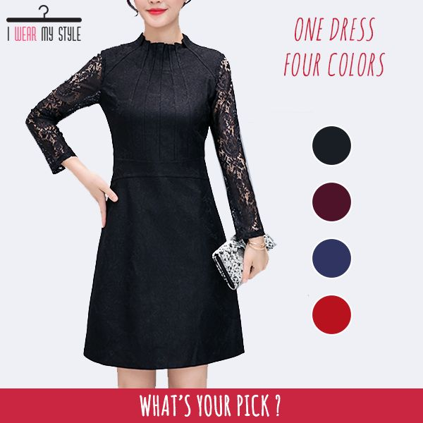 One dress, four colors! Choose a color that complements your body.