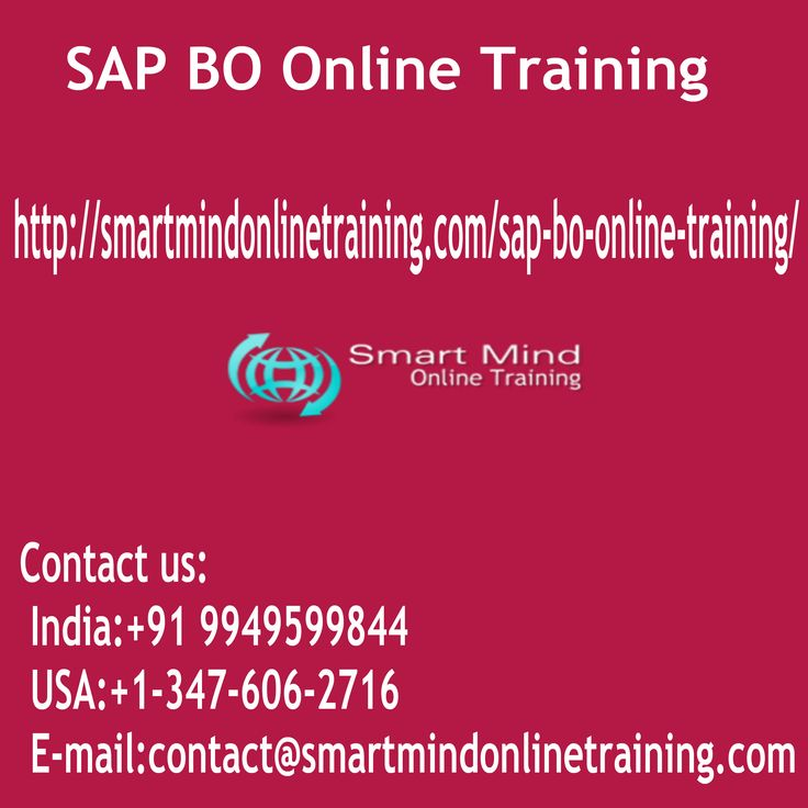 "SAP BO Online Training SAP BUSINESS OBJECTS coaching is a built-in query, reporting and analysis solution for business professionals that enable you obtain these details in an extremely SAP BUSINESS OBJECTS doc and to gain access to the data in your company sources right from your own background and current SAP BO Online Training.  <a href=""http://smartmindonlinetraining.com/sap-bo-online-training/""> SAP BO Online Training </a>"