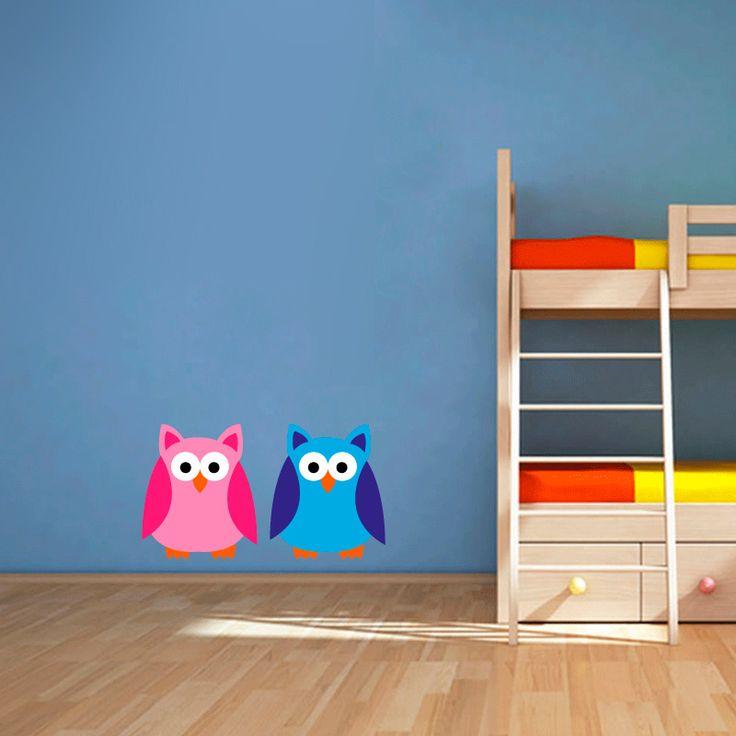 Muursticker Uiltjes | Vrolijk die ene saaie muur op met een muursticker! Gemaakt van vinyl en gemakkelijk aan te brengen. Bekijk snel onze collectie! #muur #sticker #muursticker #slaapkamer #interieur #woonkamer #kamer #vinyl #eenvoudig #voordelig #goedkoop #makkelijk #diy #uilen #uiltjes #dieren #dier #vogels #vogel #roze #blauw #jongen #meisje #cartoon #meisjeskamer #kinderkamer