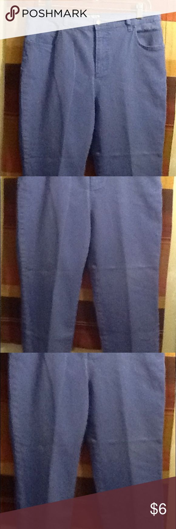 Women's Jean's These are pair of gently used , lightly faded purple Jean's..They can be worn for everyday wear.  They are 98 percent cotton and 2 percent spandex. Charter Club Jeans Ankle & Cropped