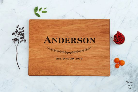 Wedding Cutting Board Wooden Personalized Couple Unique Present Best Engagement Gift For Couples Marriage Gift Family Last Name Bridal Gift