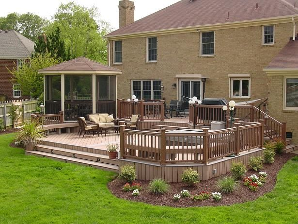 Composite deck i love this deck for the house i wanna - Deck ideas for home ...
