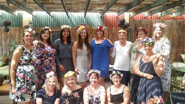 Flower  crown  workshop  at crab farm winery
